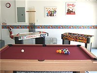 Game room with Pool, Air Hockey and Foosball