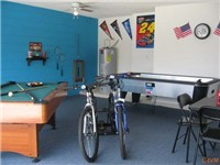 Gameroom with billiards and air-hockey