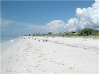 At left is Manasota Beach, looking north. Further to the north is Caspersen Beach, with its very natural and secluded shoreline. Manasota Beach has lifeguards and facilities and fairly well maintained
