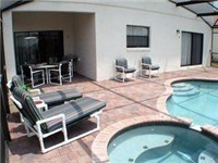 Pool and Spa with covered lanai