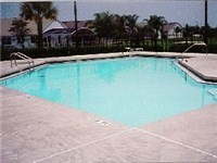 Community pool on property