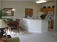 Spacious dinning room and kitchen