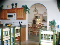 Lovely kitchen with lots of seating and a dinnette.