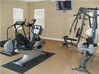 Fitness center in clubhouse