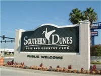 Entrance to Southern Dunes off of US 27. Southern Dunes sits behind a Super Wal-mart for all your grocery shopping needs. Open all 24 hours. Woo Hoo!