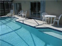 Sparkling lakeview pool