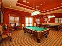 Clubhouse with pool tables