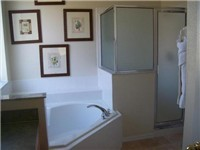 Master bath / One of two master bedrooms baths.