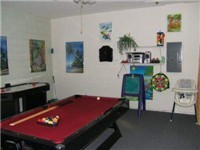 Game Room with Pool Table, Foosball, Air Hockey
