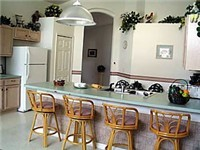 Large and spacious home with cathedral ceiling and lots of counter space in kitchen