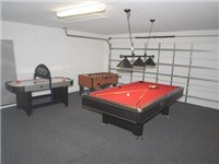 Game Room  w/Pool Table, Foosball and Air Hockey
