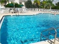 Windsor Palms Community Pool. Vacation homes all have a private pool.
