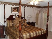 Beautiful four poster master bedroom