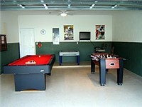Game Room with Billiards, Foosball and Air Hockey