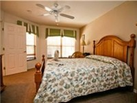 Large and spacious master bedroom with private bath suite