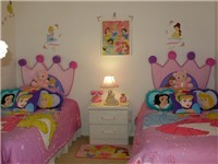 Themed Twin room with adult twin beds. So, even you grown up princess can enjoy this room.