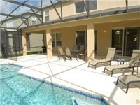 Pool and deck with covered lanai