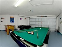 Game room with air hockey, Foosball and billiard table. POOL PICTURES AND DECK...COMING SOON!