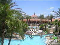 Welcome to paradise! Nestled in Davenport, Florida--just minutes from Walt Disney World--the Regal Palms Resort pool complex feels like a tropical paradise.