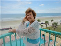 Mary Jane celebrated her 80th birthday in our unit and this was her tenth trip. Thanks for sending us the photo on the balcony. You look great!!