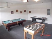 Gameroom with Pool, foosball and airhockey