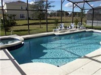 Beautiful and sparking oversized pool with spa and lots of privacy.