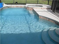 Large sparkling pool and spa