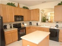 Kitchen with lots of counter space and fully equipped.