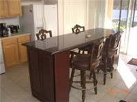 Large eat in kitchen with lots of room and plenty of counter space.