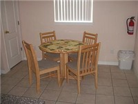Kitchen area dinette