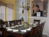 Formal Dinning area with seating for eight
