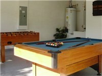 Game Room with Dart Board, Pool Table and Foosball