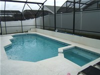 Pool and Spa with privacy fence