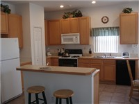 Spacious fully equipped kitchen with plenty of counter space.