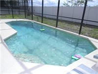 Large sparkling pool