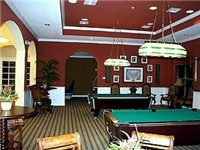 Clubhouse with pool tables.