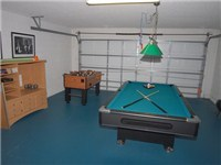 Game room with pool and foosball