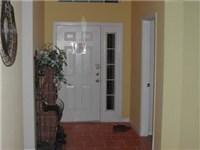 Lovely tiled foyer and family room