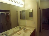 Bath with double sinks