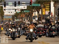 Bike Week on Main Street. Don't worry...it's not always this busy.