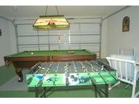 Game room with foosball