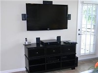 Large wall mounted TV