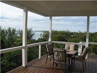 Porch with views of Coco Bay