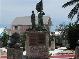 The Bronze Statue Depicting The Loyalist Landing O