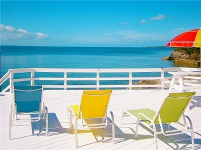 Deck overlooking The Sea of Abaco