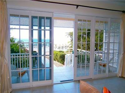 French doors leading out onto porch
