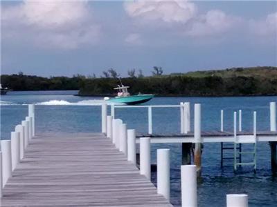 Dock on white sound