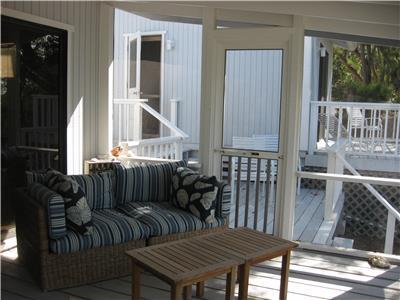 Screened in Porch off of main house.