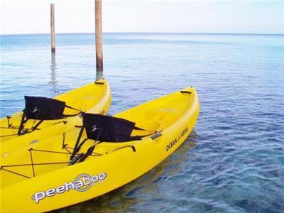 Two complimentary kayaks