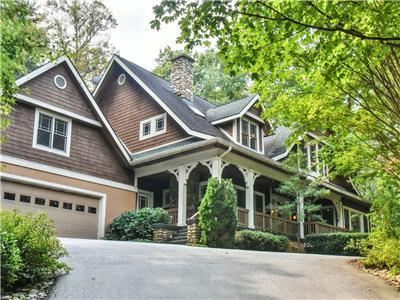 Asheville Luxury Home - Private with Creek in Exclusive Gated Community